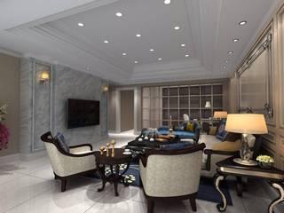 麥斯迪設計 Classic style living room Marble White