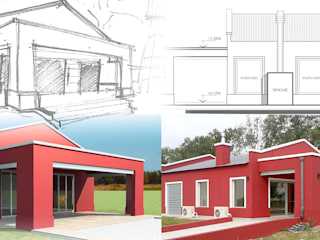 Conjunto de Viviendas de Campo, General Rodriguez Casas rurales de Arq. Fernando Rodriguez & Asociados Rural
