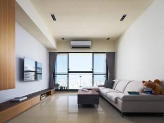 Modern style media rooms by 築室室內設計 Modern