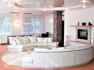 Phòng khách phong cách tối giản bởi студия Александра Пономарева Tối giản