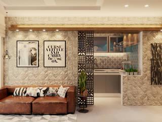 Projeto de Arquitetura de Interiores de Aparteamento  Industrial e HISPTE: Salas de jantar  por Gelker Ribeiro Arquitetura | Arquiteto Rio de Janeiro