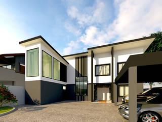 บ้านคุณกิต โดย บริษัท พี นัมเบอร์วัน ดีไซน์ แอนด์ คอนสตรัคชั่น จำกัด โมเดิร์น