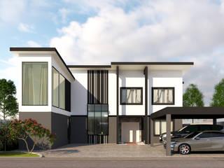 บริษัท พี นัมเบอร์วัน ดีไซน์ แอนด์ คอนสตรัคชั่น จำกัด Modern houses