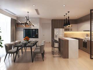 Thiết kế nội thất chung cư Vinhomes Green Bay, Mễ Trì, Từ Liêm:   by Công ty CP Kiến trúc V-Home,