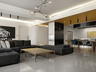 Salle à manger de style  par  何侯設計   Ho + Hou Studio Architects , Moderne