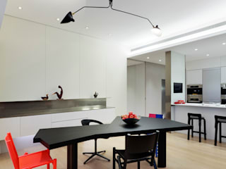 何侯設計 Ho + Hou Studio Architects Modern dining room