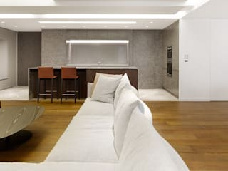 Salas de estar modernas por 何侯設計 Ho + Hou Studio Architects Moderno