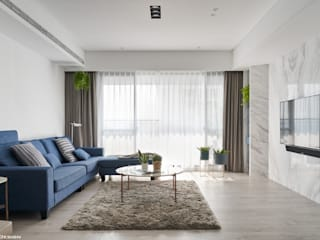 Minimalist living room by 思維空間設計 Minimalist