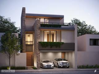 Casa AG: Casas de estilo  por Estudiotres,