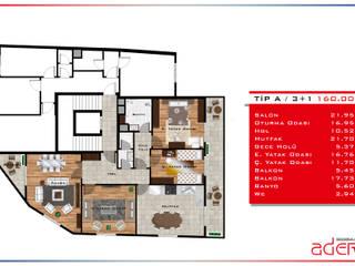 Projelendirme ve 3D plan hazırlaması AderYapı Klasik
