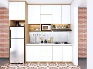 viku Kitchen units Wood Brown