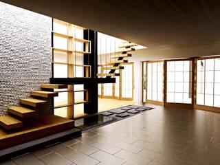 Interior Modern Kontemporer r.studio Ruang Keluarga Modern Batu Bata Grey