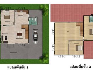 บ้านคุณเฟริน์ โดย บริษัท พี นัมเบอร์วัน ดีไซน์ แอนด์ คอนสตรัคชั่น จำกัด โมเดิร์น