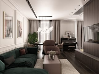 Eclectic style living room by Be In Art Eclectic