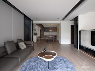 Salas de estilo moderno de 極簡室內設計 Simple Design Studio Moderno