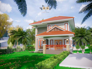 บ้านสองชั้น 7:  บ้านสำหรับครอบครัว by แบบบ้านออกแบบบ้านเชียงใหม่