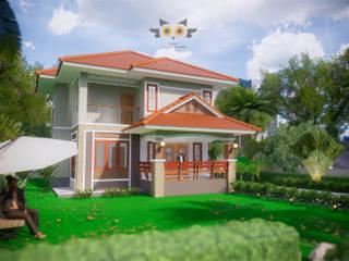 บ้านสองชั้น 7 โดย แบบบ้านออกแบบบ้านเชียงใหม่ ผสมผสาน