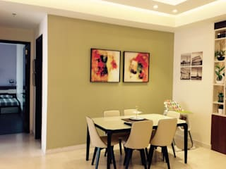Residence @ Victory valley, Gurgaon:  Dining room by INTROSPECS
