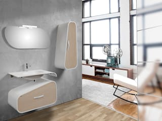 Moderno mueble de baño DESIGN Mobiliario de baño Taberner BañosAseos Contrachapado Acabado en madera