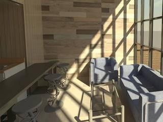 PR216 Cabaña de Madera, Laguna Verde, Valparaíso:  de estilo  por Incove - Casas de madera minimalistas