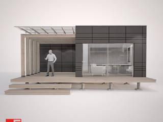 Vista Frontal:  de estilo  por Incove Ingeniería y Construcción