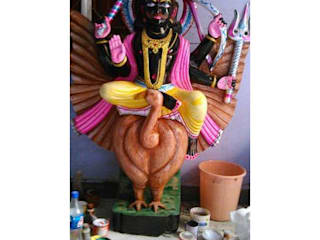 Shani Dev Black Statue:  Living room by Grp Marbles