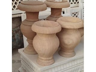 Sandstone Planters:  Front yard by Grp Marbles