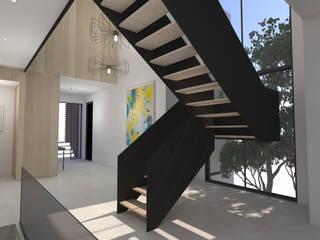 Residential Project Namibia Scandinavian style corridor, hallway& stairs by Lijn Ontwerp Scandinavian