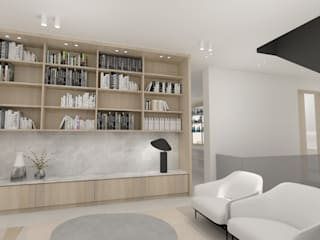 Residential Project Namibia:  Living room by Lijn Ontwerp,