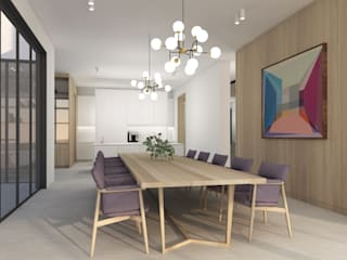 Residential Project Namibia:  Dining room by Lijn Ontwerp,