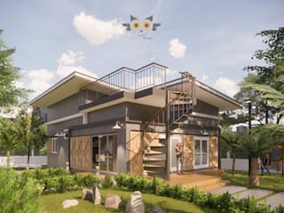 แบบบ้านออกแบบบ้านเชียงใหม่が手掛けた二世帯住宅