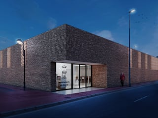 Salón para el Belén de Casillas: Salas multimedia de estilo  de UNO100 Arquitectura