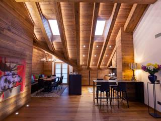 BEARprogetti - Architetto Enrico Bellotti Ruang Keluarga Gaya Rustic