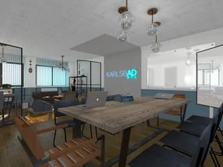 Projekt przestrzeni biurowej w Warszawie od Tylko Wnętrze Pracownia Projektowa Industrialny