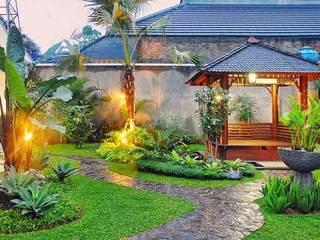 Tukang Taman Surabaya - Tianggadha-art Giardino tropicale Pietra Verde