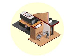Vivienda AyP: Muebles de cocinas de estilo  por Vozza Arquitectura,Moderno