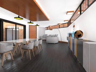 Vivienda AyP: Livings de estilo  por Vozza Arquitectura,Moderno