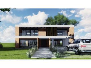 Vivienda LC: Casas unifamiliares de estilo  por Vozza Arquitectura,Moderno