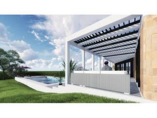 Vivienda LC: Piletas de jardín de estilo  por Vozza Arquitectura,Moderno