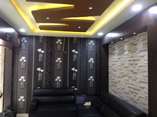 Mr. Bhaskar Reddy office at Secundrabad:  Living room by Walls Asia Architects and Engineers