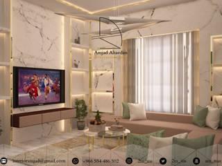 غرفة معيشة - Living room من Amjad Alseaidan كلاسيكي زجاج