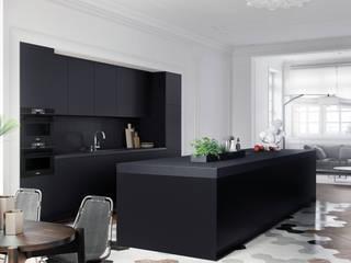Cocinas minimalista negras en Barcelona de TPC Instalación de cocinas en Parets del Vallès Moderno