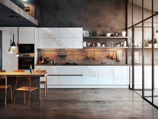 Muebles de cocinas blancos en Parets del Vallès de TPC Instalación de cocinas en Parets del Vallès Moderno