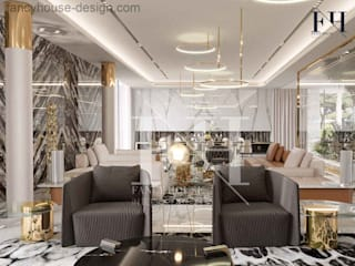 Modern villa interior design in Dubai UAE Modern Living Room by Fancy House Design Modern
