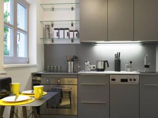 modernes Apartment im Glockenbachviertel München: modern  von Lebenstraum-Immobilien GmbH & Co.KG,Modern