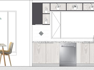 REMODELACION INTEGRAL COCINA Y COMEDOR DIARIO:  de estilo  por Estudio Arquitectura y construccion PR/ Arquitectura, Construccion y Diseño de interiores / Santiago, Rancagua y Viña del mar,