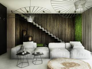 Projekt wnętrz domu / Białka Tatrzańska: styl , w kategorii Salon zaprojektowany przez MVWV studio