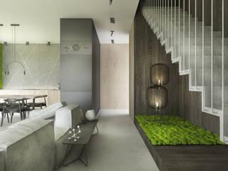 Projekt wnętrz domu / Białka Tatrzańska: styl , w kategorii Schody zaprojektowany przez MVWV studio