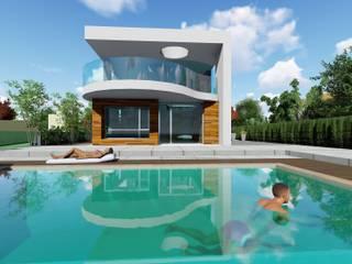 SAL Casas de estilo moderno de Dyov Arquitectura NATURAL, Passivhaus concept. 696.663.559 y 653.77.38.06 Moderno