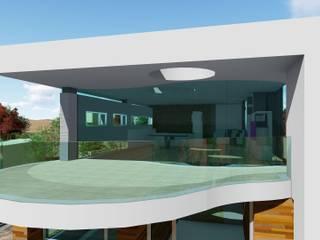 SAL Balcones y terrazas de estilo moderno de Dyov Arquitectura NATURAL, Passivhaus concept. 696.663.559 y 653.77.38.06 Moderno